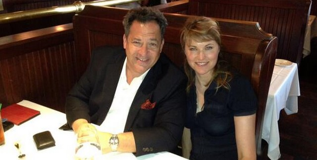 lucy Lawless and Josh Mankiewicz 2013
