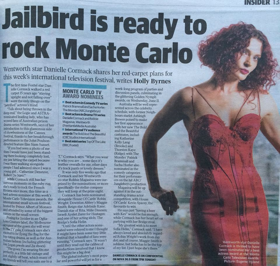 Danielle Cormack newspapers