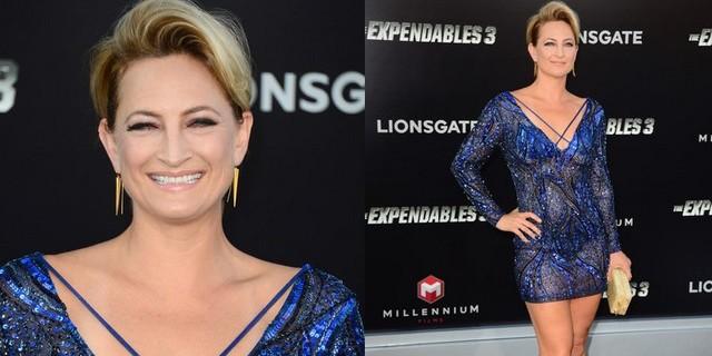Zoe à la première du film The Expendables 3