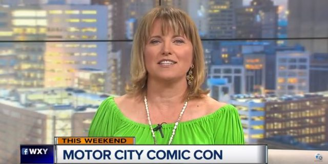 Lucy Lawless à la Motor City Comic Con